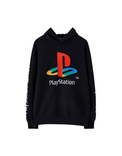 İşlemeli PlayStation sweatshirt