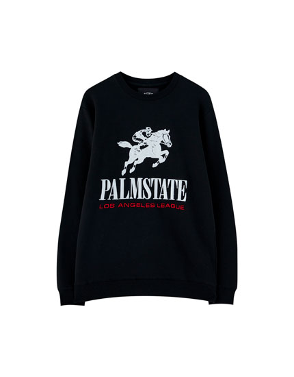 Embroidered horse sweatshirt