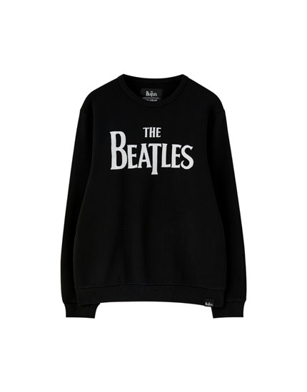 Black The Beatles sweatshirt