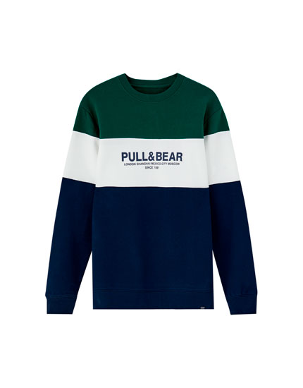 Logo colour block sweatshirt