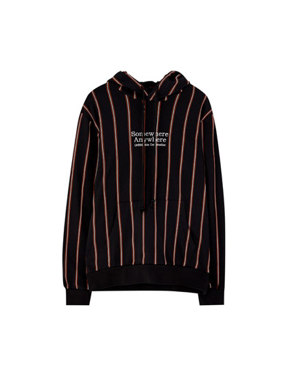 Vertical stripe hoodie