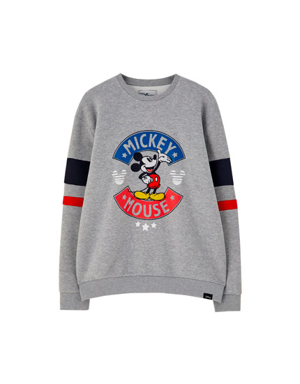 Grey retro Mickey Mouse sweatshirt