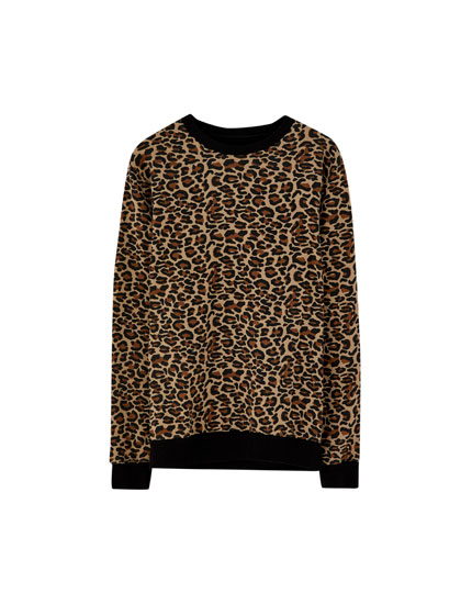 All-over leopard print sweatshirt
