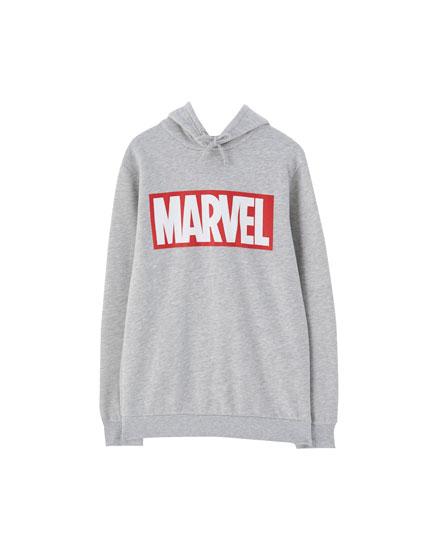 Grijs Marvel capuchonsweatshirt