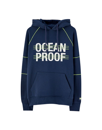 Slogan sweatshirt with neon detail