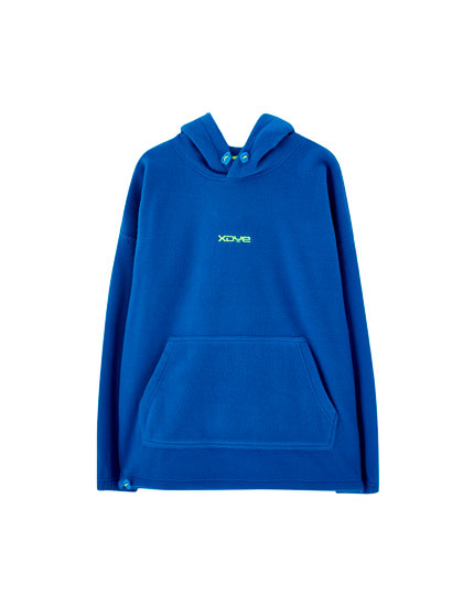 Hooded fleece sweatshirt