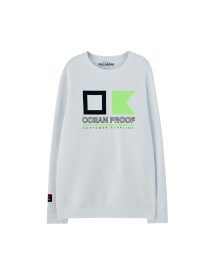 Sweatshirt with neon detail