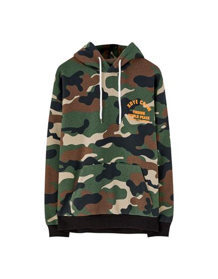 XDYE camouflage hoodie