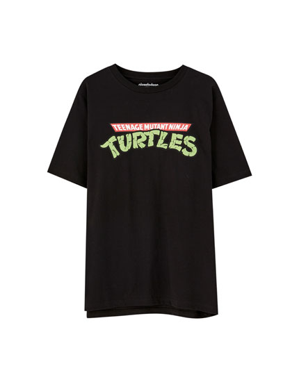 Schwarzes T-Shirt Ninja Turtles