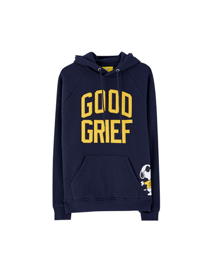 Peanuts hoodie with appliquéd slogan