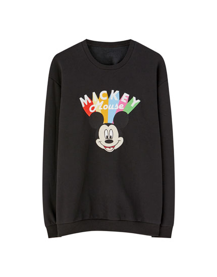 Embroidered Mickey Mouse sweatshirt
