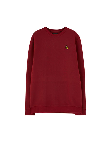 Sweatshirt with embroidered chest