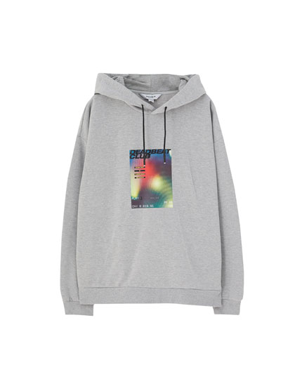 Graphic photo hoodie