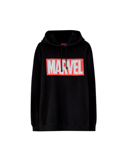 Sweat Marvel noir capuche