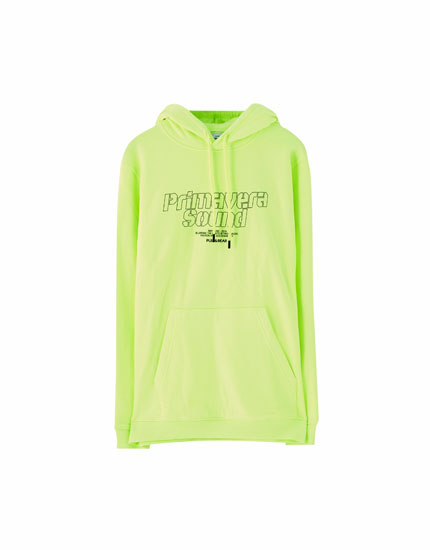 Sweat fluo Primavera Sound x Pull&Bear
