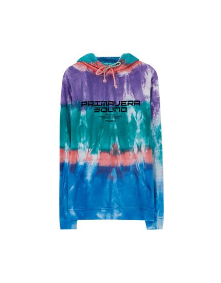 Primavera Sound x Pull&Bear tie-dye hoodie