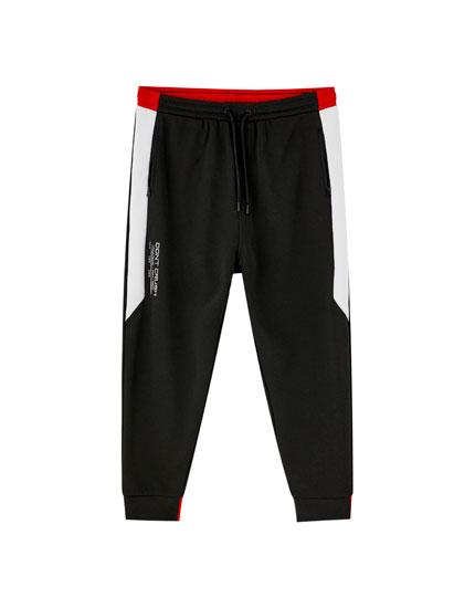 Pantalon jogging bandes