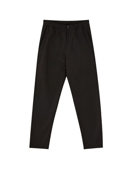 Beach trousers with side stripes
