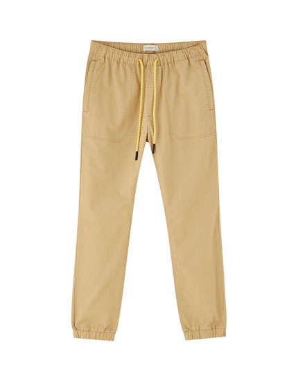 Coloured beach trousers