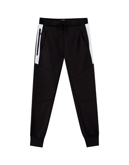 Joggers with contrast pockets