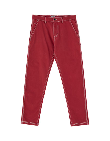 Carpenter chino trousers with carabiner