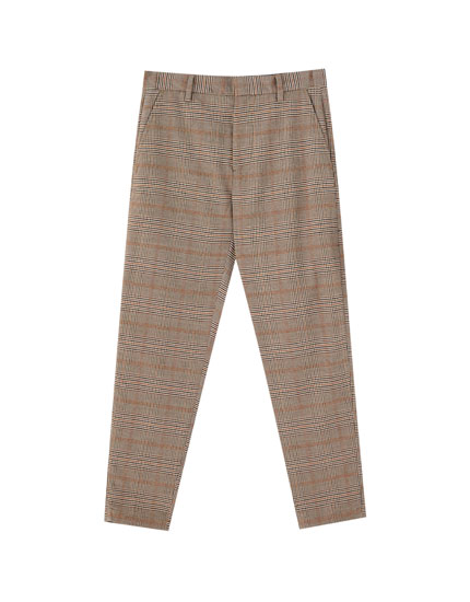 Pantalon chino tailoring carreaux