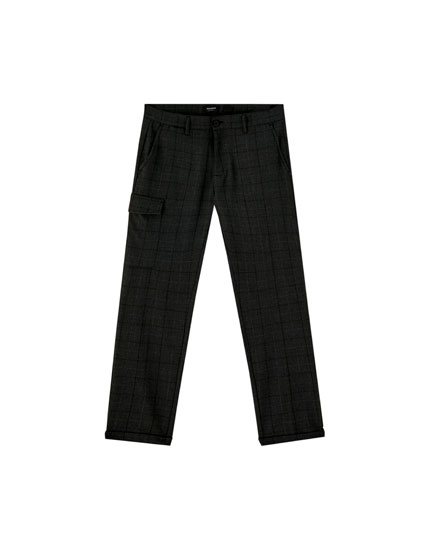 Chino trousers with cargo pocket