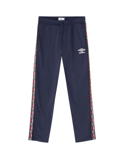 Umbro x Pull&Bear joggers with side taping