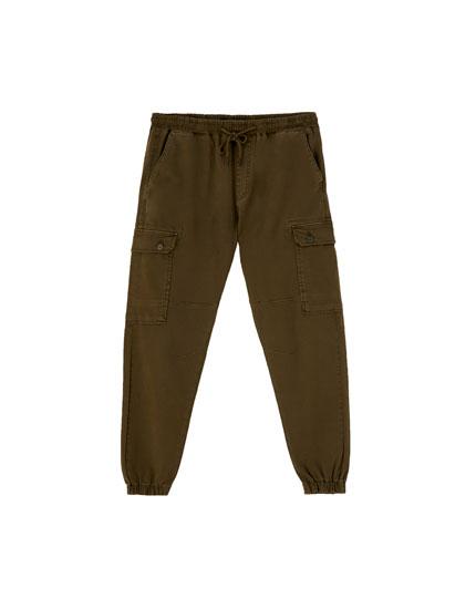 Plain cargo beach trousers