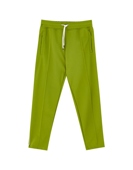 Joggers with contrast side trims