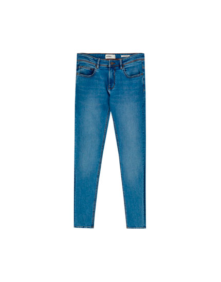 Jeans super skinny fit azul medio