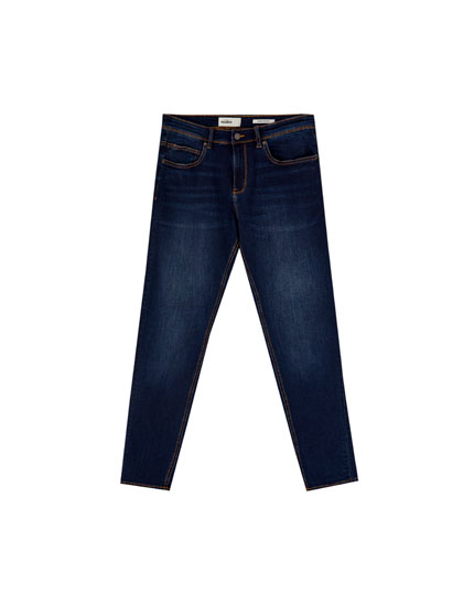 Dark blue super skinny fit jeans