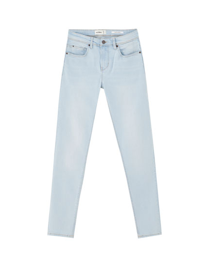 Super skinny jeans with contrast seams