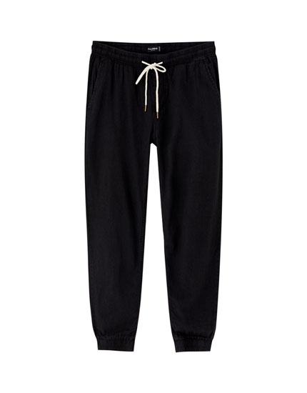 Jeans-Beachhose mit Kordelzug