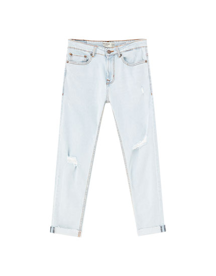 Light blue slim comfort fit jeans