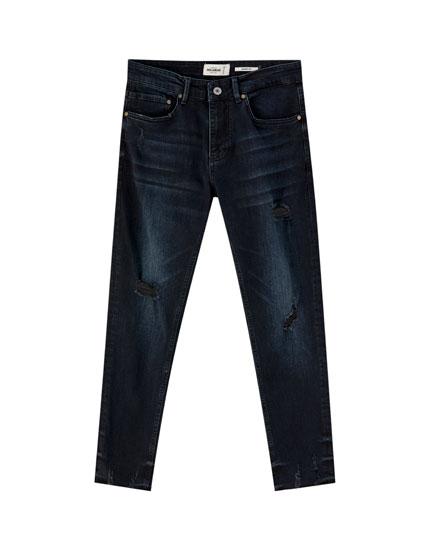 Jean skinny déchiré premium