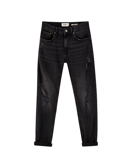 Jeans skinny premium rotos