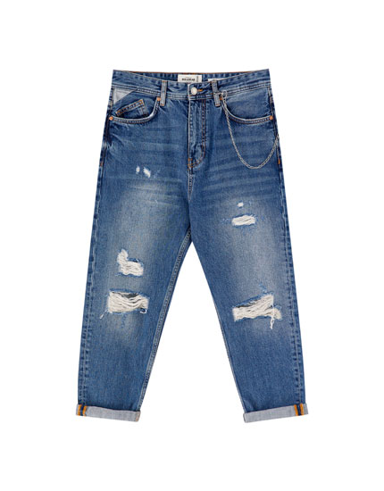 Jeans relaxed fit rotos