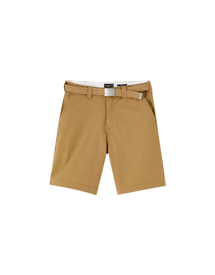 Chino-style Bermuda shorts with pockets