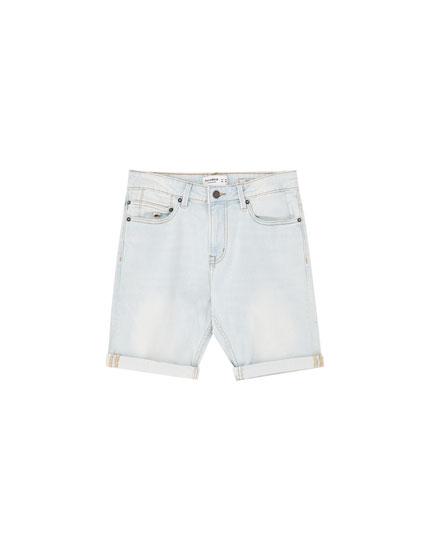 Faded slim fit comfort Bermuda shorts