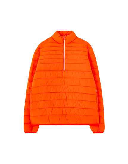 Colourful puffer jacket