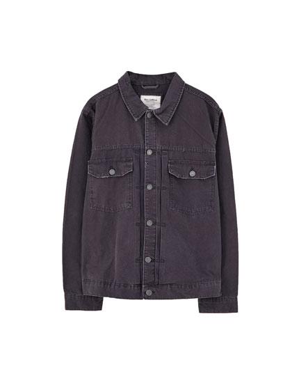 Farbige Trucker-Jacke mit Taschen