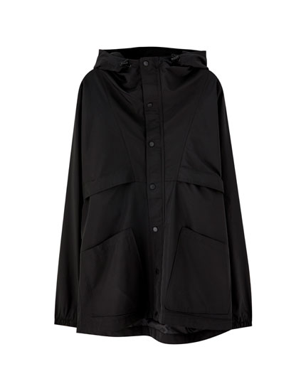 Parka with front pockets