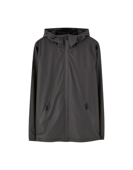 Lightweight rubberised jacket