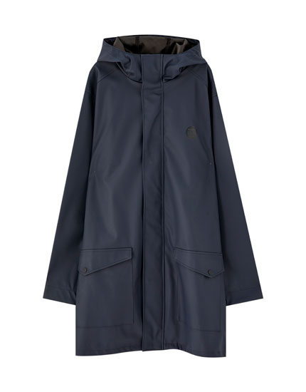 Lightweight rubberised parka