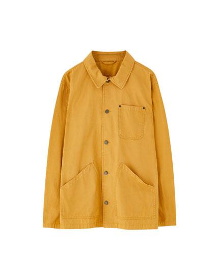 Farvet utility jakke
