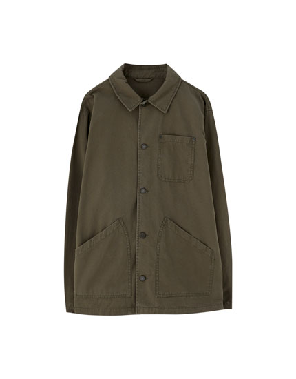 Coloured utility jacket