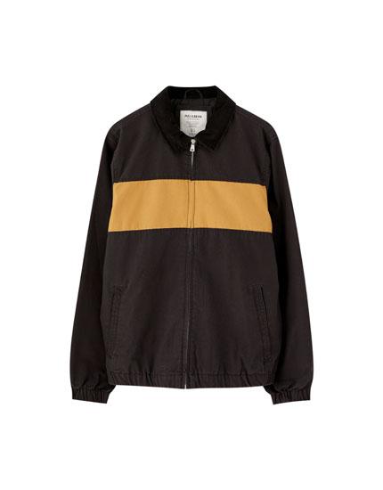 Panelled cotton jacket