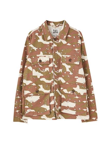 Khaki camouflage jacket