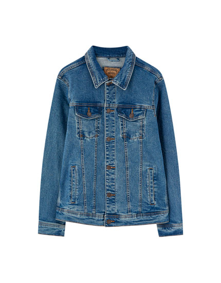 Blauw jeansjack in stretchdenim